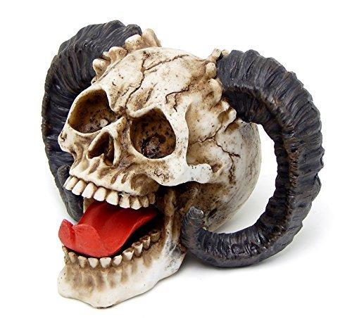 The Skull of the Horned Beast Sculpture Ram Horned Skull by Bellaa