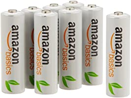 AmazonBasics Vorgeladene Ni-MH AA-Akkus - Akkubatterien (1.000 Zyklen, typisch 2000mAh, minimal 1900mAh) 8 Stck