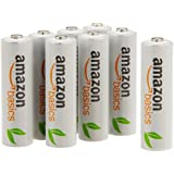 AmazonBasics AA Pre-Charged Rechargeable Batteries 2000 mAh [Pack of 8]