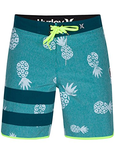 Hurley Board Shorts - Hurley Phantom Block Party Pina 18.5' Board Shorts - Star Blue rio teal
