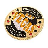 MagiDeal Hochwertig Metall All-in Chip, Poker Dealer Button Casino-Zubehör - Las Vegas
