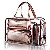 NiceEbag 5 en 1 Sac Cosmétique en PVC Portable Fourre-tout Trousse de Maquillage...