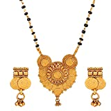 #7: Quail Gold Plated Temple Jewellery Mangalsutra Set for Women Latest Design Traditional South