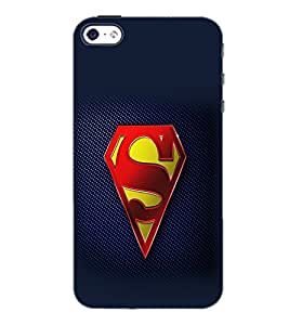 PrintDhaba Superman Logo D-2098 Back Case Cover for APPLE IPHONE 4S (Multi-Coloured)