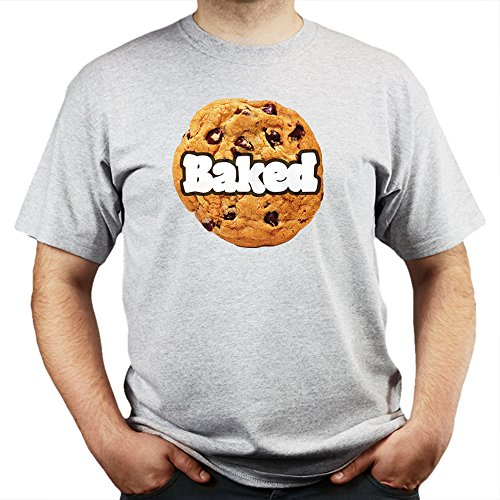Baked Cookie Dough Swag Fresh Dope 80s 90s Street Wear T-shirt Grau