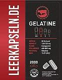 Leerkapseln | Gr 00 | Gelatine | getrennte Kapselhälften | Halal & Kocher zertifiziert | aus Südamerika | transparente leere Kapseln zum befüllen (2000 Stk.)