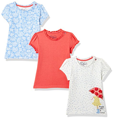 Mothercare Baby Girls' Floral Regular Fit T-Shirt (Pack of 3)