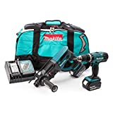 Makita DLX2025M 18 V Li-ion LXT Combo Kit Complete with 2 x 4.0 Ah Li-ion Batteries and Charger in a Heavy Duty Carry Bag – (2 Pieces)