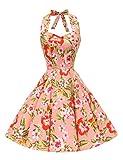 VKStar® Retro 1950er Audrey Hepburn Kleid Cocktailkleid Rockabilly Swing Kleid Style-2 L