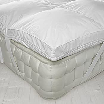 """Luxury 4"""" Thick Supersoft Heavy Fill Microfibre Mattress Topper All Sizes (King) 3"""