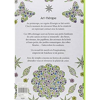 Printemps: 100 coloriages anti-stress