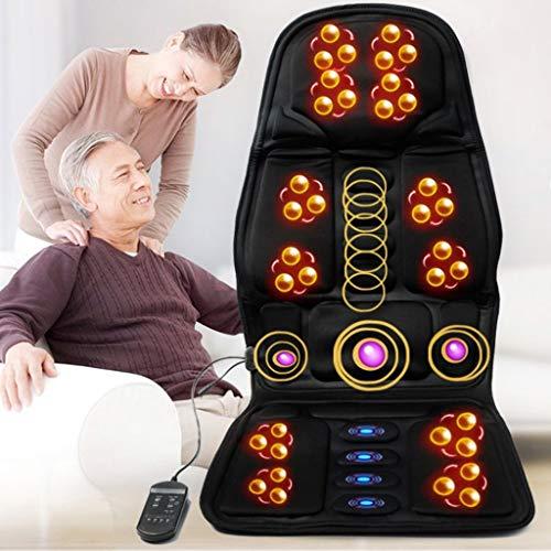 Shiatsu Massageauflage Massagegeräte,Alles Körper Massagesitzauflage,Massage Matte Mit Vibration Wärme,8 Massagemethoden, 3 Massagestärken, Überhitzungsschutzgerät