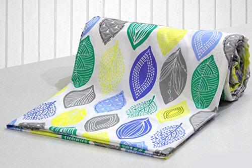 AURAVE Blue Feathers Vector Pattern Reversible 1 Pc Cotton Duvet Cover/Quilt Cover/Blanket...