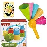 HHO Fisher Price Baubecher + Sandspielzeug Eiswaffeln mit Portionierer