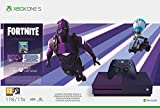 Xbox One S - Consola de 1 TB, Degradado Morado + 1 Mando Morado, 1 Mes de: Xbox Live Gold (Digital) + Game Pass (Digital) + Fortnite Con Skin Dark Vexter + 2000 V-Bucks