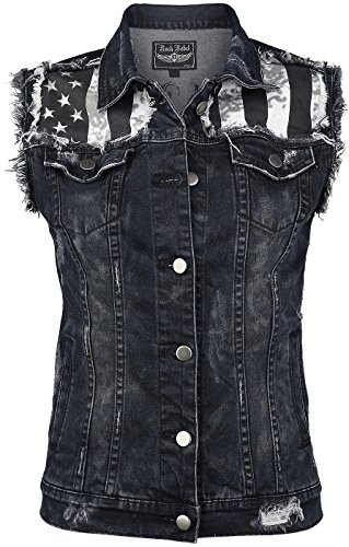 Rock Rebel by EMP Jeans Waistcoat Gilet donna nero XL