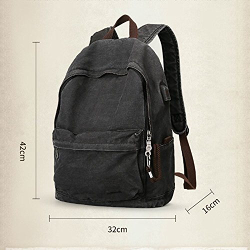 Retro-Schultertasche Männer Casual Canvas Tasche Rucksack Mode Student Tasche Männlichen Computer Tasche - Für Tasche Mann Shouder