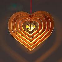 ZQ@QXDesign moderno elegante cucina soggiorno lampadario pranzo Lampadario in legno amore