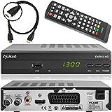 Comag DKR 40 digitaler Full HD Kabel-Receiver (HDTV, DVB-C / C2, HDMI, SCART, PVR, Mediaplayer, USB 2.0, 1080p) [automatische Installation] inkl. XAiOX® HDMI Kabel - schwarz