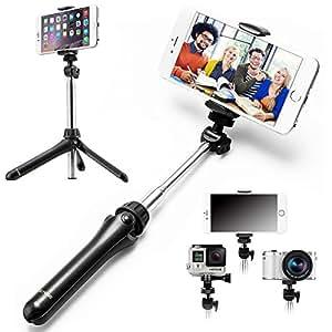 iKross 2-en-1 trépied / monopode télescopique Selfie pôle extensible Pour pour GoPro Hero, smartphone et caméras