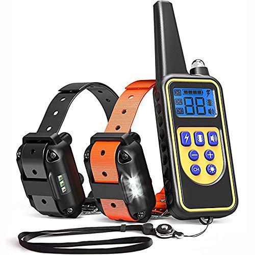 Chucalyn Cane collare popolare, collari per l'addestramento del cane, impermeabile e ricaricabile, per tutti i tipi di cani, 2 collari in un unico pacchetto