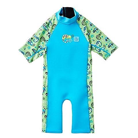 Splash About Kids' UV Combi Sun Suit, Green Gecko, Medium