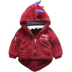 Nuevo bebé invierno ropa algodón dinosaurio cola más abrigo de cachemira , red , 110cm