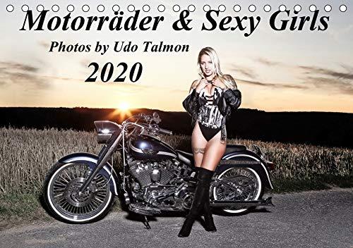 Motorräder & Sexy Girls (Tischkalender 2020 DIN A5 quer): Stilvoll gestaltete Bilder mit schweren Maschinen und heiße Girls (Monatskalender, 14 Seiten ) (CALVENDO Menschen)
