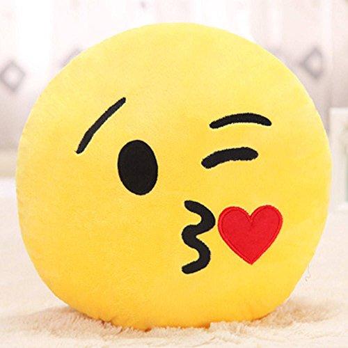 Showkoo Moda Colpo bacio Emoji ventaglio tondo forma cuscino Per Office Nap - Kissy viso