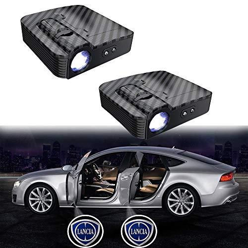 MIVISO 2019 2PCS Porta per auto LED Logo Proiettore Lampada wireless Lampada di benvenuto Ghost Shadow Light (aggiornata senza magnete)