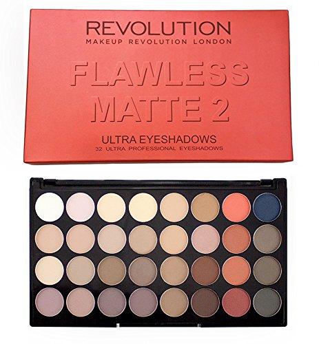 Makeup Revolution Palette de fard à paupières - Flawless Matte 2