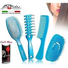 Set spazzola capelli districante. Spazzola pneumatica, spazzola asciugatura, pettine e