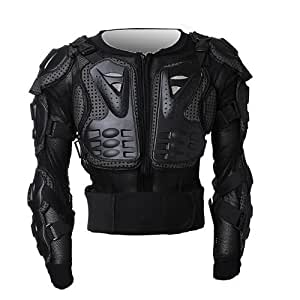 Black Moto Motocross Cyclisme de montagne Snowboard Patinage Spine Guard Protector Bionic Chest Jacket Veste de protection SZFD17 L