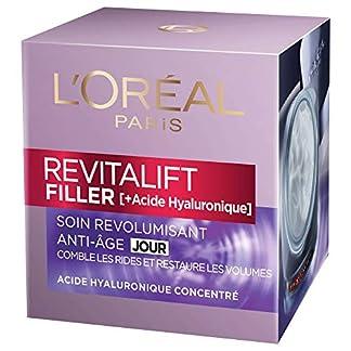L'Oréal Paris – Crema revitalizante, cuidado antiedad, volumen progresivo, ácido hialurónico, 50ml