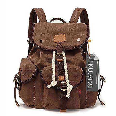 Canvas Backpack, P.KU.VDSL® School backpacks, Vintage Canvas