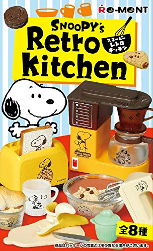 Re-Ment Peanuts Snoopy's Retro Kitchen Full Set of 8 1:12~1:6 Scale Dollhouse Miniatures Furukonpu Complete Full Set Box (Set of 8 Pieces) Japan Import by Re-Ment