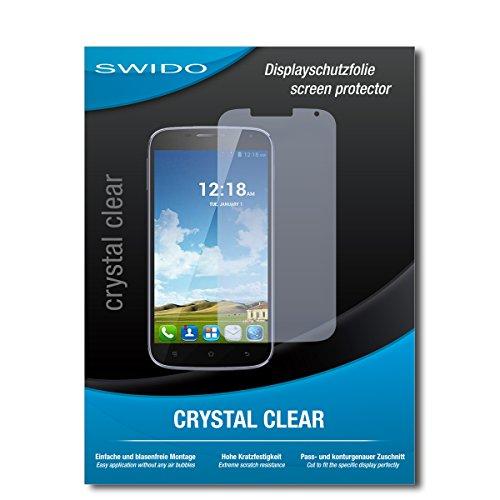 SWIDO Schutzfolie für Haier Phone W867 [2 Stück] Kristall-Klar, Hoher Härtegrad, Schutz vor Öl, Staub & Kratzer/Glasfolie, Bildschirmschutz, Bildschirmschutzfolie, Panzerglas-Folie