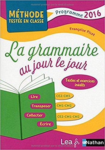 La Grammaire au jour le jour - Contenus anne 2
