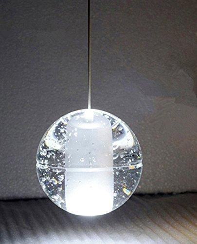 Lampadario Semplice Sfera Cristallo LED Singola Testa Personalità Creativa Lampada Sospensione Meteor Shower (Lampadina Non Inclusa)