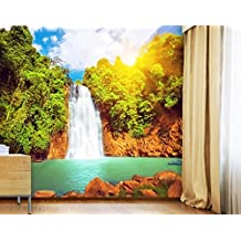 Carta da parati adesiva Paradise Lagoon, dimensione: 380cm x 360cm