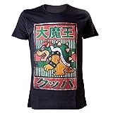 Nintendo T-Shirt -XL- Bowser Kanji, schwarz