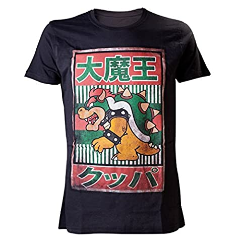 Nes Super Mario Bros - T-Shirt 'Super Mario Bros' - Japanese Bowser