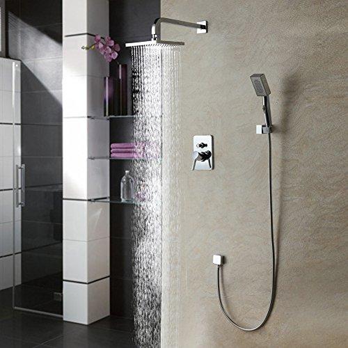Auralum® 2 anni di garanzia moderno sistema doccia doccia set doccia docce testa cascata set doccia Incl. Pioggia testa + doccia a mano Pannello doccia montaggio a parete