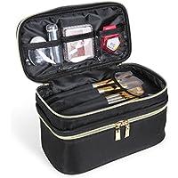Lifewit Neceser Maquillaje 2 Pisos Bolso para Mujer Profesional Estuche Bolso de maquillaje Bolsa de Cosméticos Organizador Portátil Funda de Viaje para Cosméticos Joyería/Labial/Cepillo de Sombra (Negro)