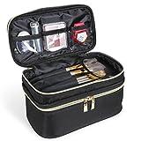 Lifewit Borsa Cosmetica Da Viaggio Con Divisori Regolabili, Borsa Porta Trucco Grande, Borsa da Viaggio Trucco Portatile, Nera