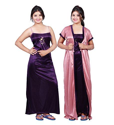 Bailey Women\'s Satin Night Dress (Pack of 2)