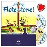 Jede Menge Flötentöne Band 1 - Die Schule für Altblockflöte mit Pfiff von Barbara Ertl - mit 2 CDs und herzförmiger Notenklammer