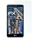 atFolix Panzerfolie für LG Stylus 2 Folie - 3 x FX-Shock-Clear stoßabsorbierende ultraklare Displayschutzfolie