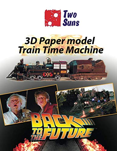 3D Paper Model Train Time Machine: how to build Train Time Machine por Twosuns
