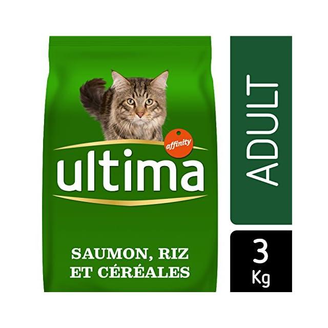 Ultima Croquettes pour Chat Adulte Saumon et Riz 3 kg